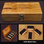 Handmade Wood Watch Box 1545 one of a kind