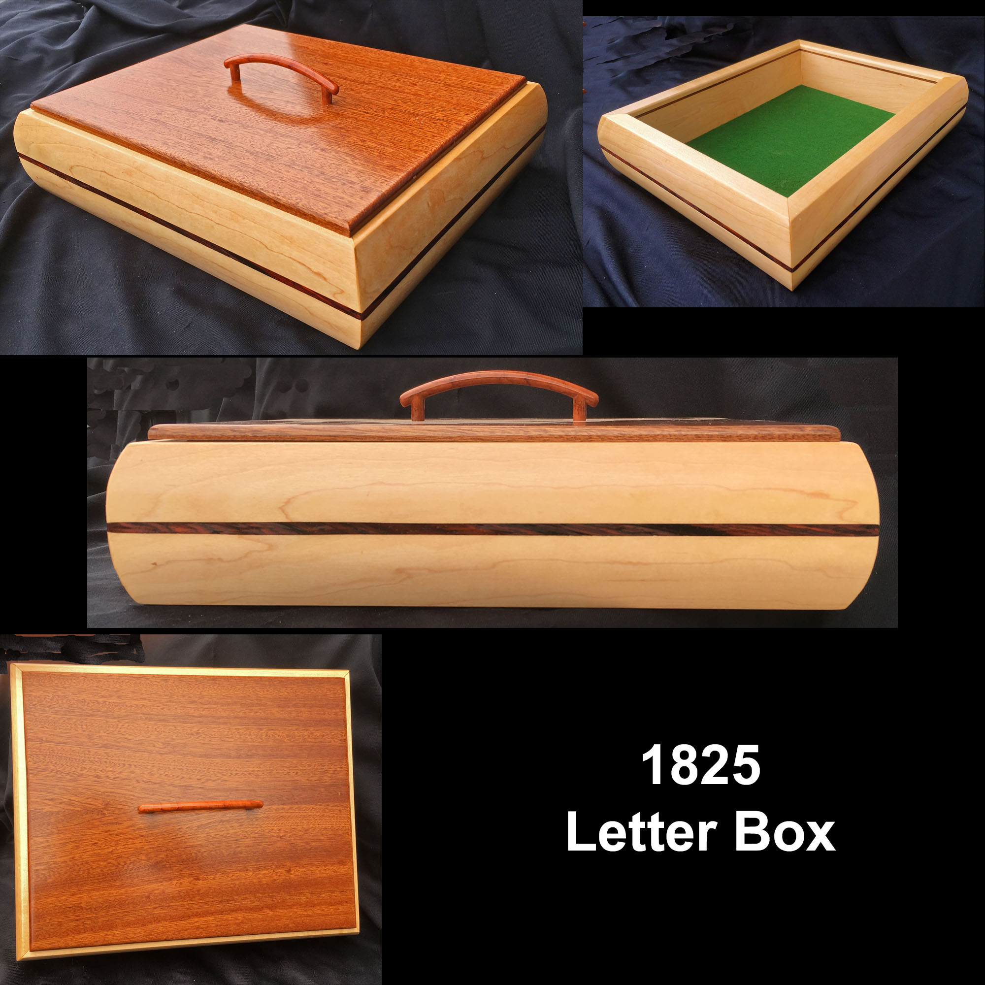 Hinged lid 9 x 12 x 4 12 5th Anniversary Wedding gift JSL107 Lined trays Birthday Jewelry Box Handcrafted wood Sapele hardwood